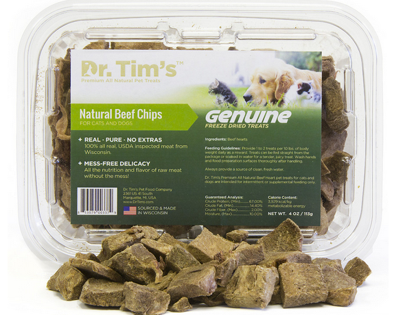 Dr. Tim's natural all beef freeze-dried cat treats