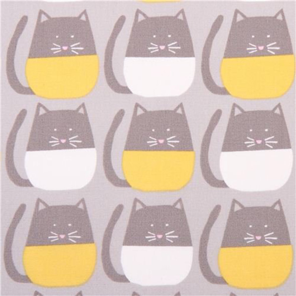 organic cotton cat print fabric  monaluna