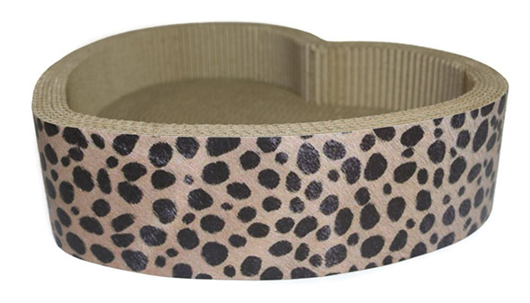 valentine's day gift for cat, recyclable cardboard cat scratcher lounge