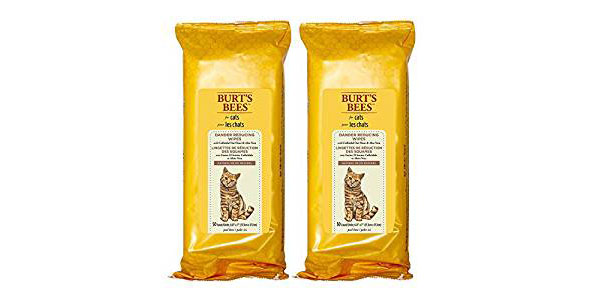 Burt's Bees Dander Reducing Wipes for Cats