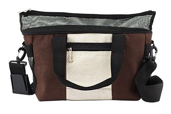 hemp dog carrier, hemp dog travel bag