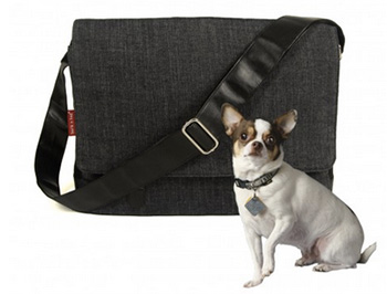 Organic Denim Dog Messenger Carrier bag